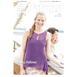Patons 4074 Ladies Crocheted Summer Vest using Patons Machine Washable 100% Cotton 4 ply