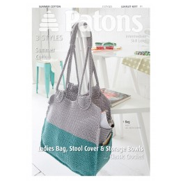 Patons 4077 Summer Cotton Ladies Bag, Stool Cover and Storage
