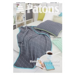 Patons 4083 Summer Cotton Blanket and Cushion Coverlet