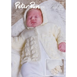 PP1054 Baby Cardigan, Hats, Booties and Mittens DK