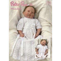 PP1106 Baby Dress and Cardigan DK