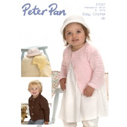 PP1137 Baby Cardigan and Hat DK