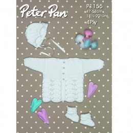 PP1155 Baby Cardigan, Hat and Mittens DK