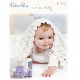 PP1159 Baby Shawl and Toy DK