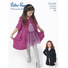 PP1169 Children's Long Cardigans DK