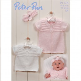 PP1175 Baby Cardigans and Headband DK