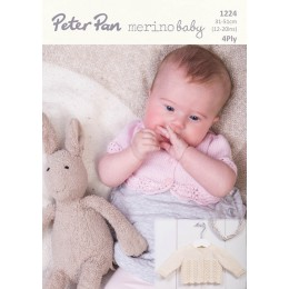 PP1224 Baby Cardigans 4ply