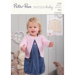 PP1229 Baby Cardigans 4ply