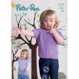 PP1237 Children's Cardigans and Tank Top 4ply