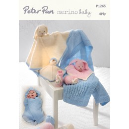 PP1265 Baby Blankets, Comforters and Bunny Slippers 4ply