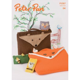 PP1267 Children's Bags, Pencil Case, Phone Cover and Toy Owl DK