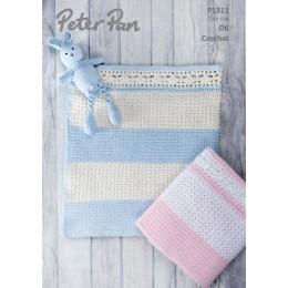 PP1311 Crochet Blanket in Peter Pan Baby Cotton DK
