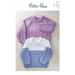 PP1321 Patterned Sweaters & Polo Shirts for Babies/Toddlers in Peter Pan Pixie DK