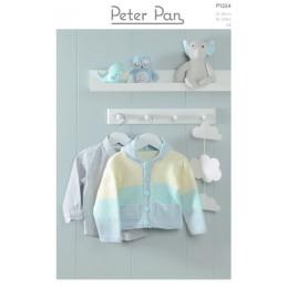 PP1324 Hooded Jackets in Peter Pan Baby Cotton DK