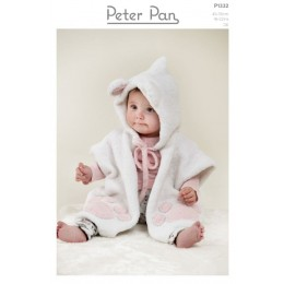 PP1332 Baby & Toddler Poncho in Peter Pan Binky DK