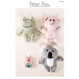 PP1335 Pig, Frog & Koala Bear Soft Toys in Peter Pan Binky DK