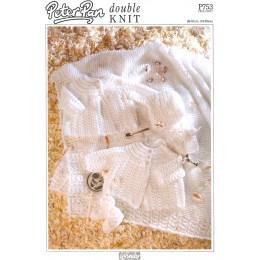 PP753 Baby Cardigan, Blanket, Hats, Booties and Mittens DK