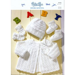 PP956 Baby Cardigan, Hats, Booties and Mittens DK