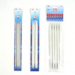 Prym Double-Pointed and glove Knitting Pins alu 20 cm