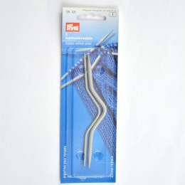 Prym Cranked Cable Pins alu 2.50 + 4.00 mm