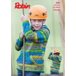 R3005 Children's Hooded Top in Robin Phoenix Chunky