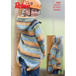 R3009 Child's Parka Jacket in Robin Phoenix Chunky