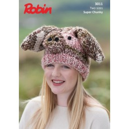 R3011 Pig Hat in Robin Paintbox Splash Super Chunky