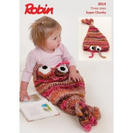R3014 Shrimp Sleeping Bag in Robin Paintbox Splash Super Chunky
