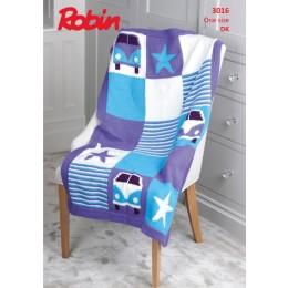 R3016 Campervan Blanket in Robin DK