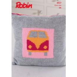 R3017 Campervan Cushion in Robin DK