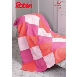 R3024 Sleepy Baby Blanket in Robin Bonny Babe DK