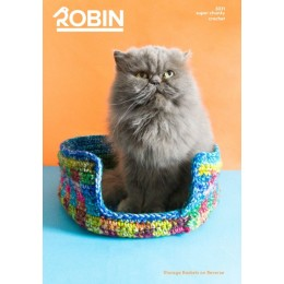 R3031 Storage Baskets & Pet Basket in Robin Paintbox Splash Super Chunky