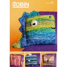 R3032 Novelty Cushion Covers in Robin Paintbox Splash Super Chunky