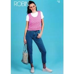 R3049 Ladies Top in Robin Cotton DK