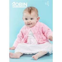 R3051 Raglan Cardigans with Lace or Cable Panels in Robin Bonny Babe Sparkle DK