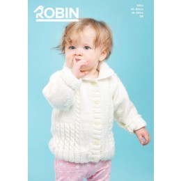R3054 Baby's Collared Jacket in Robin Bonny Babe Sparkle DK