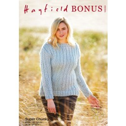 S10000 Ladies Chunky Sweater in Hayfield Bonus Super Chunky