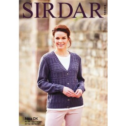 S10005 Ladies V Neck Cardigan in Sirdar No.1 DK