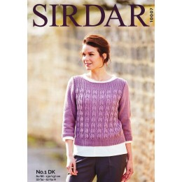 S10007 Ladies Boat Neck Sweater in Sirdar No.1 DK