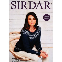 S10013 Ladies Round Neck Sweater Knitted in Sirdar No.1 Chunky