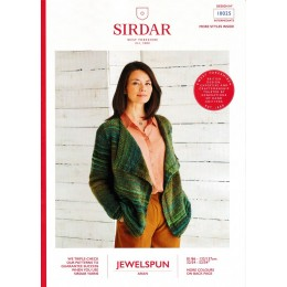 S10025 Ladies Drape Cardigan in Sirdar Jewelspun Aran