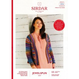 S10026 Ladies Top Down Cardigan in Sirdar Jewelspun Aran