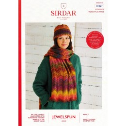 S10027 Ladies Scarf and Hat in Sirdar Jewelspun