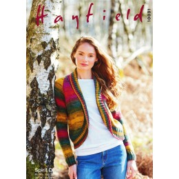 S10031 Ladies Round Edge Cardigan in Hayfield Spirit DK