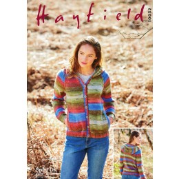 S10032 Ladies Hooded Cardigan in Hayfield Spirit DK