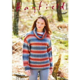 S10034 Ladies Roll Neck Sweater in Hayfield Spirit DK