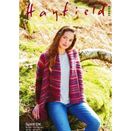 S10035 Ladies Drape Cardigan in Hayfield Spirit DK