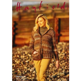 S10047 Ladies Shawl Neck Jacket in Hayfield Bonanza
