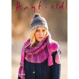 S10048 Ladies Hat & Scarf in Hayfield Bonanza