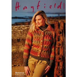S10050 Ladies Collared Jacket in Hayfield Bonanza